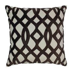 Indian Trellis Cotton Throw Pillow