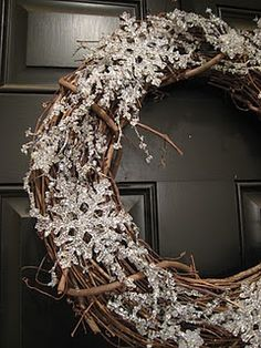 Snowflake Winter Wreath, change if for the seasons. . Deff going to A.C. Moore this weekend to make this!!!