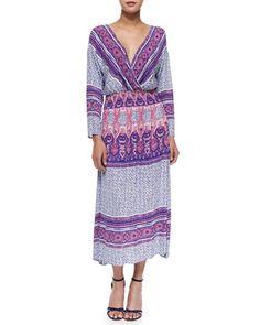 Three-Quarter-Sleeve Midi Dress by Free People at Neiman Marcus.
