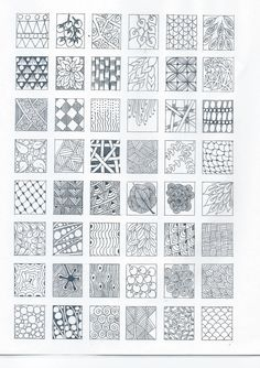 Simple Zentangle Patterns