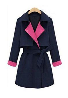 usd31.99/Image of European Style Mixing Color Elegant Coat