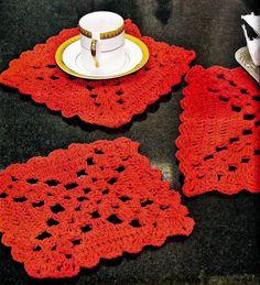CROCHE COM RECEITA: Porta-copos de croche para o natal