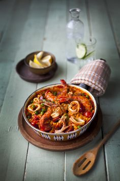 Spicy Seafood Paella | DonalSkehan.com, The taste of summer, best served al fresco with a glass of wine!