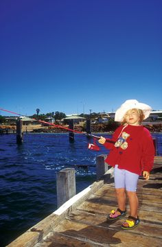 Fishing is a great activitiy for all the family, Shark Bay, Western Australia