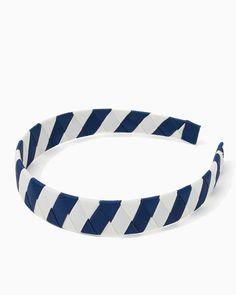 charming charlie | Big Blue Stripe Headband | UPC: 410007078467 #charmingcharlie