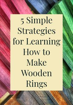 If you want to learn how to make a wooden ring, this is a great place to start. Easy, actionable, and a good first post. Ring Making, How To Make Rings, Looking For People, Woodworking Books, Making Tools, Wood Rings, Types Of Wood, Metal Jewelry, Thoughtful Gifts