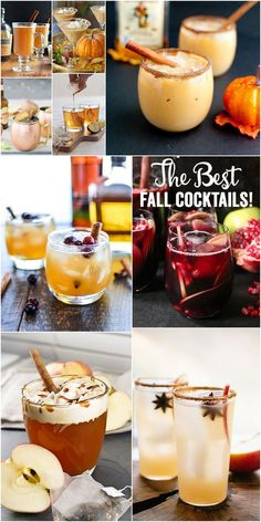 9 Fabulous Fall Cocktails Fall! I love fall cocktails, y'all! Apple, pumpkin, cinnamon, spices…!! They're so cozy and delish. There are also a billion recipes out there, so which ones are actually wor