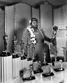 Hattie McDaniel, the first black Oscar winner. 1939... I love, love, love this women; seen her in most classic american movies. What a powerful and humorous actress.