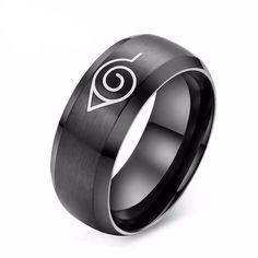new style 6cf78 7f057 Naruto Ring - Fashion Steel Konoha Ring Estilo De Hombre, Anillos Para  Hombres, Anillos