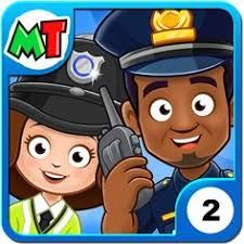 My Town Police Station Apk Mod Unlock All Unlimited Money App Cracked My Town Town Games Police