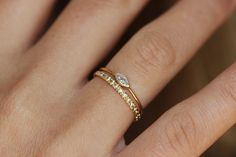 Marquise Diamond Engagement Ring  Diamond Gold Ring  by artemer, $660.00