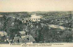 Panorama pris de Bellevue.  Daté d'avant la grande guerre (pour repère, emplacement des usines Renault quasi inexistant)