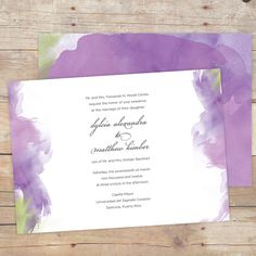 Custom watercolor wedding invitations Print Is Not Dead