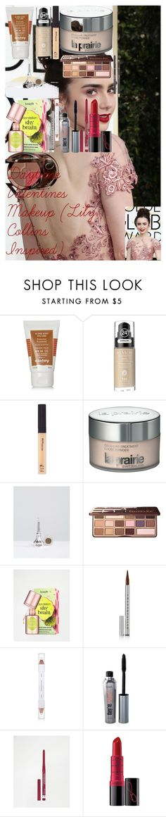 """""""Daytime Valentines Makeup (Lily Collins Inspired)"""" by oroartye-1 on Polyvore featuring beauty, Sisley, Revlon, Maybelline, La Prairie, Benefit, Too Faced Cosmetics, Etude House, Chantecaille and shu uemura"""