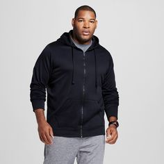 Men's Big & Tall Sizes Tech Fleece Full Zip Hoodie Dark Blue 3XL - C9 Champion, Size: Xxxl, Dark Night Blue