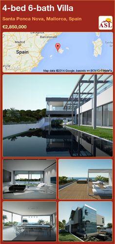 4-bed 6-bath Villa in Santa Ponca Nova, Mallorca, Spain ►€2,850,000 #PropertyForSaleInSpain