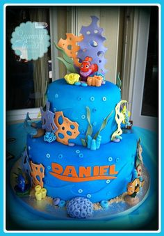 Informations About Finding Nemo Cake! Informations About Finding Nemo Finding Nemo Cake, Finding Dory, Character Cakes, Disney Cakes, Cake Decorating Tips, Cute Cakes, Party Cakes, Eat Cake, Cupcake Cakes