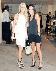 Kate Davidson Hudson and Stefania Allen Palandjoglou at cocktails in honor of Sergio Rossi's Fall 2012 collection and the opening of the new shoe floor at Barneys New York.