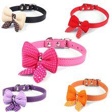 Knit bowknot regolabile in pelle di cane puppy pet collari collana, collari per cani, collare del gatto perro, taglia xs s m(China (Mainland))