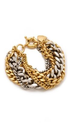 Giles & Brother Large Multi Chain Bracelet. #fashion #jewelry #accessories #bracelet
