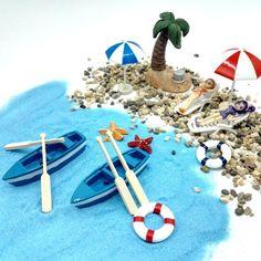 Fairy Garden Dollhouse Landscape Sea Beach Style Miniature Ornament Plant Decor #EMi #Custom
