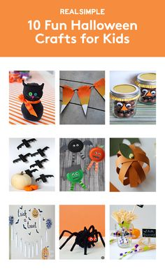 10 Fun Halloween Crafts for Kids | Get the kids involved with decorating the house for Halloween. Or use these ideas as an activity if you're throwing a seasonal party.