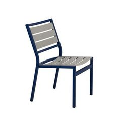 Tropitone Cabana Club Stackable Dining Side Chair (Set of 2) Fabric: Greco, Finish: Woodland