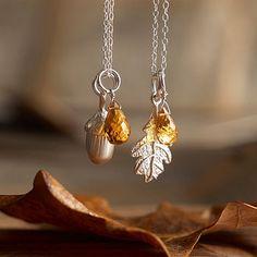Silver Oak Necklace