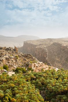 WEBSTA @ lonelyplanettraveller - Guarded over by a millennia-old watchtower, the village of Misfat is thought to be one of the most ancient settlements in Oman // photo by Lonely Planet, Grand Canyon, Travel Destinations, Travel Photography, Scenery, Places To Visit, Around The Worlds, Middle East, Water