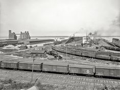 """""""Anchor Line docks and Penna. R.R. coal & ore docks, Erie, Pennsylvania,"""" c 1900."""