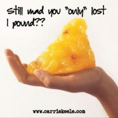 Every pound counts