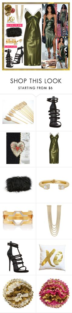 """""""Glam. It. Up!"""" by westcoastcharmed ❤ liked on Polyvore featuring Giuseppe Zanotti, Gucci, Alexander Wang, Sondra Roberts, Ashley Stewart, Monica Sordo, Rosantica, xO Design and Cultural Intrigue"""