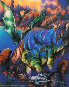 Dinosaurs Stegosaurus Triceratops Kids Room Animal Fantasy Art Print Poster (16x20) Impact Posters Gallery http://www.amazon.com/dp/B008HNJKK8/ref=cm_sw_r_pi_dp_ebciub02H8MH4