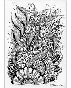 Viktoriya Crichton_Ukraine Nikolaev_Zentangle graphic hand-made pattern tangle abstract design graphic monochrome blackandwhite zentangle inspired zenart artdrawing artnet Drawing Illustration gelpen painting drawing artwork zentangle art Painting & Drawing, Doodle Art Drawing, Zentangle Drawings, Doodles Zentangles, Art Drawings, Abstract Drawings, Abstract Designs, Drawing Ideas, Doodle Art Designs