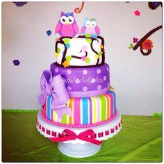 - Owl 1st Birthday cake