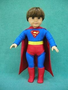 Superboy, Super Boy, Superhero, Super Hero, Doll clothes outfit or costume Cosplay for American Girl Doll