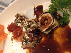 Sushi sashimi polvo shimeji