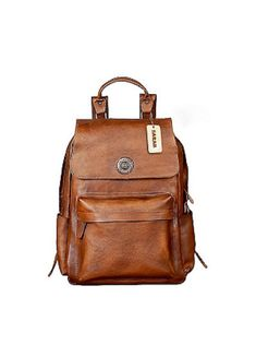 Leather Backpack For Men School Bag Brown Backpacks College Etsy Bags Handbags University Lv Hand Purses Totes Pocket