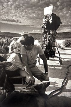 """Marilyn & Arthur on the set of """"The Misfits"""" 1961 photograph by Eve Arnold"""