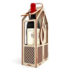 vector Wine Gift Boxes, Wine Gifts, Box Wine, Vector File, Vector Art, Laser Cut Patterns, Cnc Projects, Laser Cut Files, Cnc Machine