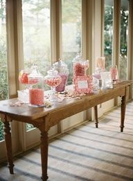 wedding decoration simple candy bar