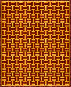 Basket Weave -  This looks like it would be an easy quilt for beginners