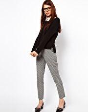 pants - ASOS Skinny Trousers In Jacquard
