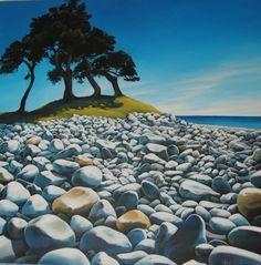 New Zealand artist Boulder Beach, Kiwiana, Bouldering, Adele, New Zealand, Golf Courses, Island, Mountains, Artist