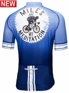 Miles are my Meditation Mens Blue Cycling Jersey from Cycology Clothing