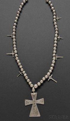 Southwest Silver Cross Necklace