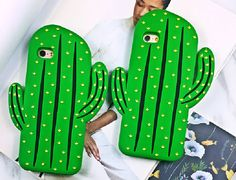 Funny 3D Cactus Phone Case Soft Tpu Silicone Rubber Capa for Iphone 6 6s 6 Plus 7 7plus Cartoon Back Cover Fandas