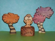 Waldorf Inspired Wooden Lorax Toy Set