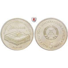 DDR, 5 Mark 1990, Zeughaus, st, J. 1632: Kupfer-Nickel-5 Mark 1990. Zeughaus. J. 1632; stempelfrisch 5,50€ #coins