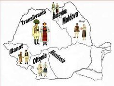 The map of Romanian folk costumes regions - YouTube